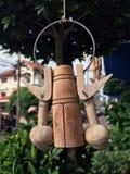 Ξύλινη ένωση κινητή, ισχύων από το περιλαίμιο βούβαλων στην Ταϊλάνδη στοκ εικόνες με δικαίωμα ελεύθερης χρήσης