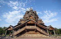 Ξύλινη αρχαία εκκλησία Karjala στοκ εικόνες με δικαίωμα ελεύθερης χρήσης