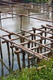 Ξύλινη γέφυρα δομών Στοκ φωτογραφία με δικαίωμα ελεύθερης χρήσης