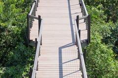 Ξύλινη διάβαση πεζών γεφυρών Στοκ Φωτογραφίες