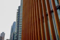 Ξύλινη δομή ενός σύγχρονου κτηρίου Στοκ Εικόνες