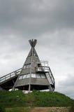 Ξύλινη καλύβα Στοκ Φωτογραφίες
