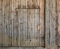 Ξύλινη κλειστή πόρτα Στοκ Φωτογραφίες