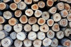 Ξύλινη ξυλεία κύκλων σύστασης για την κατασκευή Στοκ φωτογραφία με δικαίωμα ελεύθερης χρήσης