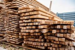 Ξύλινη ξυλεία στο πριονιστήριο στοκ φωτογραφία με δικαίωμα ελεύθερης χρήσης