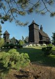 Ξύλινη παλαιά εκκλησία Στοκ φωτογραφίες με δικαίωμα ελεύθερης χρήσης