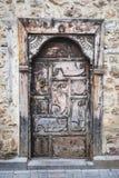 Ξύλινη πόρτα σε Antalya Castle, Τουρκία Στοκ Εικόνες