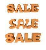 Ξύλινη πώληση λέξης Στοκ εικόνα με δικαίωμα ελεύθερης χρήσης