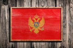 Ξύλινη σημαία του Μαυροβουνίου Στοκ Εικόνα