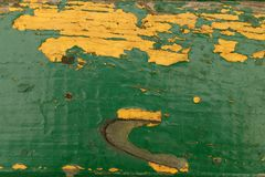 Ξύλινη σύσταση με το χρώμα αποφλοίωσης Στοκ Εικόνες