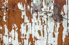 Ξύλινη σύσταση του παλαιού χρωματισμένου πίνακα πορτών με ένα κομμάτι προστατευτικού οδοντωτού - καλώδιο στοκ φωτογραφίες με δικαίωμα ελεύθερης χρήσης