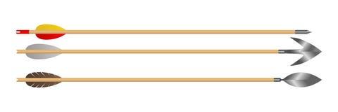 Ξύλινη τόξων απεικόνιση σχεδίου βελών διανυσματική απεικόνιση αποθεμάτων