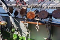 Ξύλινοι φραγμοί ως τμήμα των ξαρτιών Στοκ Φωτογραφία