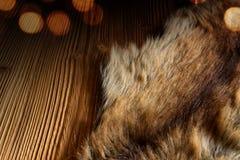 Ξύλινος πίνακας με ένα για χάδια δέρας στοκ φωτογραφία με δικαίωμα ελεύθερης χρήσης
