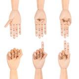 Ξύλινος πλαστός αριθμός χεριών Στοκ φωτογραφία με δικαίωμα ελεύθερης χρήσης