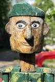 Ξύλινος στρατιώτης πράσινο beret Στοκ εικόνα με δικαίωμα ελεύθερης χρήσης