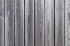 Ξύλινος φράκτης των uncolored πινάκων Στοκ Φωτογραφία