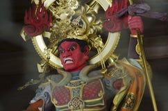 Ξύλινος φύλακας στο βουδιστικό ναό στοκ φωτογραφία με δικαίωμα ελεύθερης χρήσης