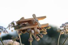 Ξύλινο αεροπλάνο παιχνιδιών Στοκ φωτογραφίες με δικαίωμα ελεύθερης χρήσης
