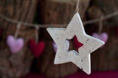 Ξύλινο αστέρι Στοκ εικόνα με δικαίωμα ελεύθερης χρήσης