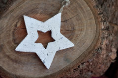 Ξύλινο αστέρι Στοκ φωτογραφία με δικαίωμα ελεύθερης χρήσης