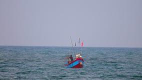 Ξύλινο δίκτυο ρίψεων αλιείας Θαλασσών της Νότιας Κίνας απόθεμα βίντεο
