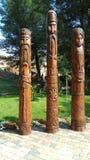 Ξύλινο είδωλο τρία του σλαβικού πολιτισμού Στοκ Εικόνα