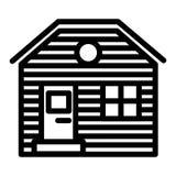 Ξύλινο εικονίδιο ιδιωτικών πυροσβεστικών σωλήνων Κατοικήστε τη διανυσματική απεικόνιση που απομονώνεται στο λευκό Σχέδιο ύφους πε ελεύθερη απεικόνιση δικαιώματος