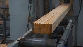 Ξύλινο εξοχικό σπίτι κατασκευής Μέτρηση των φραγμών πεύκων με τη βοήθεια μιας υπαίθριας κινηματογράφησης σε πρώτο πλάνο εργαλείων Στοκ φωτογραφία με δικαίωμα ελεύθερης χρήσης