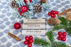 Ξύλινο ημερολόγιο Χριστουγέννων Στοκ φωτογραφία με δικαίωμα ελεύθερης χρήσης
