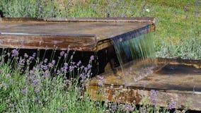Ξύλινο κανάλι νερού άρδευσης απόθεμα βίντεο