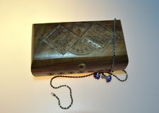 Ξύλινο κιβώτιο για τις διακοσμήσεις Στοκ Εικόνα