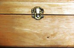 Ξύλινο κιβώτιο κλειδαριών Στοκ φωτογραφία με δικαίωμα ελεύθερης χρήσης