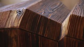 Ξύλινο κομμάτι σχεδίου των επίπλων - τηγάνι φιλμ μικρού μήκους