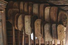 Ξύλινο κουπί στοκ φωτογραφία με δικαίωμα ελεύθερης χρήσης