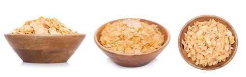Ξύλινο κύπελλο μπαμπού με τα οργανικά δημητριακά granola στοκ εικόνα