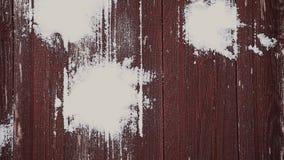 Ξύλινο μήκος σε πόδηα χιονιού HD γραφείων απόθεμα βίντεο