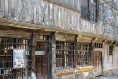 Ξύλινο μουσείο κεντρικός στη μεσαιωνική πόλη Honfleur στη Νορμανδία, Γαλλία Στοκ Φωτογραφίες