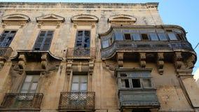 Ξύλινο μπαλκόνι Vallettaστοκ φωτογραφία με δικαίωμα ελεύθερης χρήσης