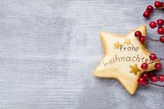 Ξύλινο ντεκόρ Χριστουγέννων Χριστούγεννα συμβόλων χαιρετισμός καλή χρονιά καρτών του 2007 Στοκ Φωτογραφίες