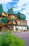 Ξύλινο παλάτι tzar Aleksey Mikhailovich στην αναδημιουργία Kolomenskoe, Μόσχα, Ρωσία Στοκ φωτογραφίες με δικαίωμα ελεύθερης χρήσης