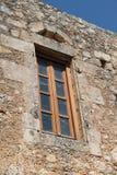 Ξύλινο παράθυρο, μοναστήρι Arkadi, Κρήτη Στοκ φωτογραφία με δικαίωμα ελεύθερης χρήσης