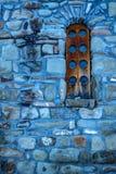 Ξύλινο παράθυρο της κεντρικής εκκλησίας σε Arkhyz Στοκ φωτογραφία με δικαίωμα ελεύθερης χρήσης