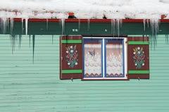 Ξύλινο παράθυρο Στοκ Εικόνα