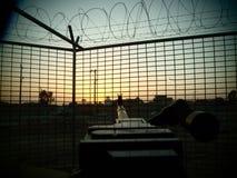 Ξύλινο παρατηρητήριο στοκ φωτογραφία