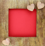 Ξύλινο πλαίσιο αγάπης Στοκ Εικόνα