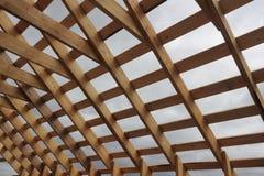 Ξύλινο πλαίσιο στεγών Στοκ εικόνα με δικαίωμα ελεύθερης χρήσης