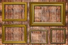Ξύλινο πλαίσιο φωτογραφιών. Στοκ Εικόνες