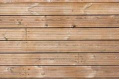 Ξύλινο πρότυπο σύστασης Decking Στοκ εικόνα με δικαίωμα ελεύθερης χρήσης