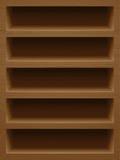 Ξύλινο ράφι βιβλίων με τη φυσική σύσταση Στοκ εικόνα με δικαίωμα ελεύθερης χρήσης